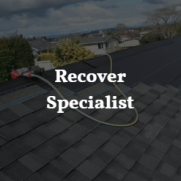 "If your roof is showing signs of wear and aging, we offer recover""going over your exiting shingles"""